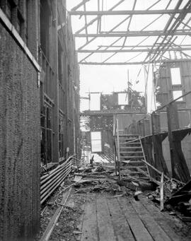 Forest Service; Fraser River marine station, fire damage.
