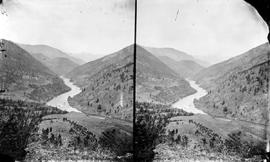 The Thompson River from Nicomen Mountain, stereo view.