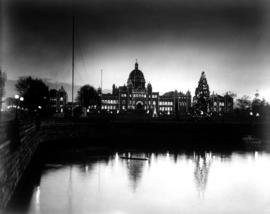 Legislative Buildings, Victoria  Night Shot