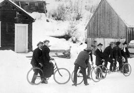 Barkerville Group With Bicycles.