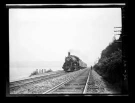 "4-6-2, No. 2594, Pacific; Inbound to Vancouver east of Second Narrows With ""Agassiz Local&qu..."