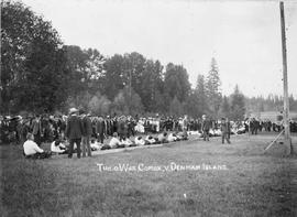 """Tug-o-war; Comox vs. Deman Island"""