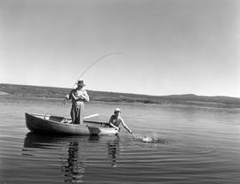 Fishing at Puntzi Lake