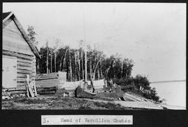 """Head of Vermilion Chutes""; George Ball and Fenley Hunter in the North West Territories..."