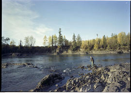 Fishing on the Bulkley River at Telkwa