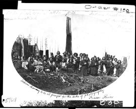 Indians shamming to be at prayer for the sake of photography.  Fraser River . At the priests requ...