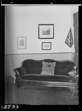 Hand Upholstered Couch At Helmcken House, Victoria