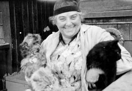 Emily Carr with Griffon [dog] & black cat
