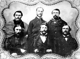 Members of the first Legislative Assembly on Vancouver Island, 1856 - 1859; Victoria.