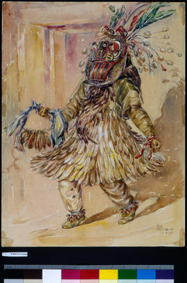 Willie Tuchqua (Tock-Wea), Age 62, In Dance Costume....