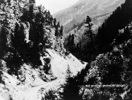 """Auto road near Radium Hot Springs."""