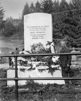 """This Commemorates the Coming of the First White Man to Lake Pend d'Oreille, David Thompson.....September 8, 1809"""