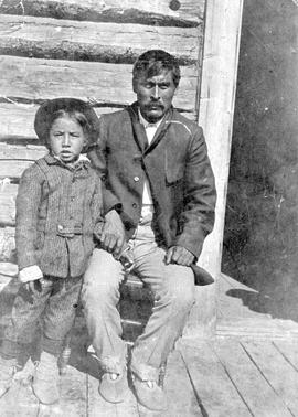 Billy Neehas and his son, Telegraph Creek.