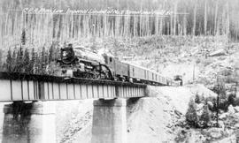 """CPR main line, TransCanada Limted near Field, BC""."