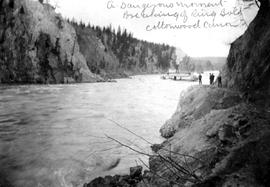 """A dangerous moment, breaking of ring bolt; Cottonwood Canyon""; sternwheeler Charlotte ..."