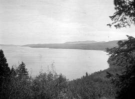 View of Fraser Lake from the surrounding mountains.