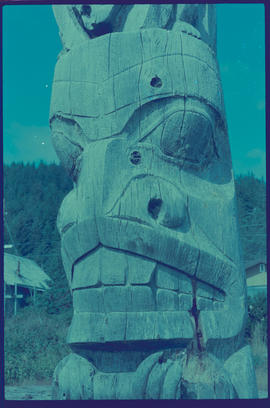 Totem At Skidegate Queen Charlotte Islands