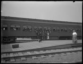 Soldiers aboard a Canadian Northern train