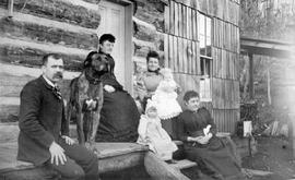 Mr. and Mrs. Giegerich, their family, home and dog, Ainsworth