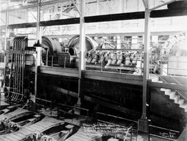"""Primary ball mills, showing primary and secondary classifiers in motion; CMS Co. concentrator, Kimberley, BC."""