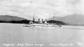 """Hospital ship Prince George, Prince Rupert, BC""; the Canadian National Railway's ..."
