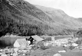 Peace River; Camp At The Mouth Of Selwyn Creek.
