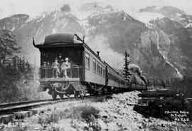 """G.T.P. first passenger train from Prince Rupert, Mile 45"""