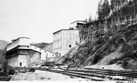 """Coarse crushing plant""; CMS and Co. concentrator, Kimberley, BC."