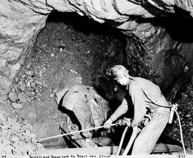 "'Grizzly And Draw-Hole To Blast-Hole Stope""; Kimberley; Cominco Sullivan Mine; Miners At Work"