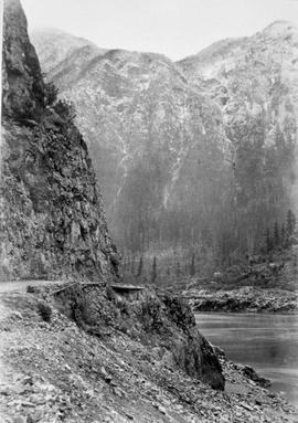 Cariboo Waggon Road and the Fraser River.