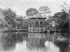 [Canton, China]  This gives you the ornamental water, the little summer house in the centre is wh...