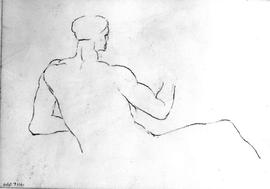 [Incomplete Nude Figure From Behind]