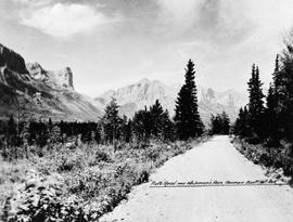 """Auto road near Whiteman's Pass, Banff National Park."""