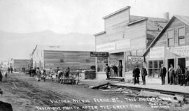 """Victoria Avenue, Fernie BC, this picture was taken one month after the great fire"""