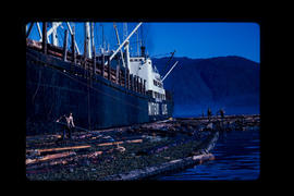 Loading Logs On A Japanese Freighter Prince Rupert