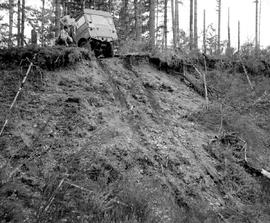 Forest Service; Land Rover winching demonstration.