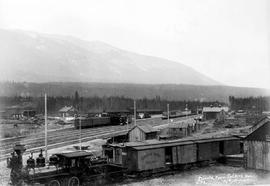 Canadian Pacific Railway Yard At Donald