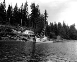 Salmon Fisherman's Boat And Home