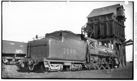4-6-2, No.2590, Pacific; 3/4 Right From Rear Of Tender; Calgary, Alta.