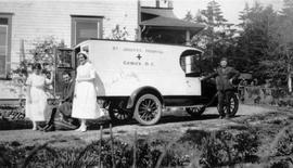Ambulance from St. Joseph's Hospital in Comox.
