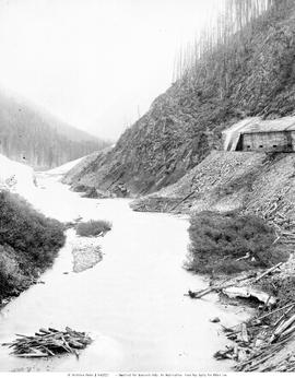 Snow Sheds On The Canadian Pacific Railway In The Illecillewaet Valley.