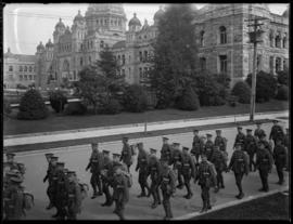 103rd Battalion marching