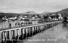 """An Indian funeral, Port Simpson, BC."""