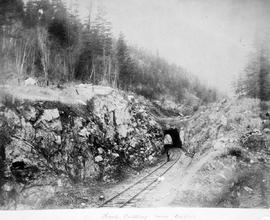 A rock cutting near Keefer's Siding; from Onderdonk albums.