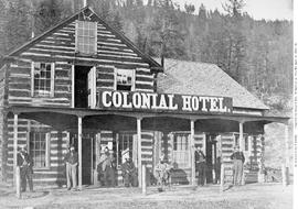 The Colonial Hotel, Soda Creek, Fraser River.  [R. McLeese ].