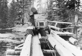 Kelley Logging Company truck on Louise Island, Queen Charlottes.