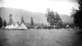 Fort Steele. N.W.M.P. D Troop Camp