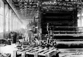 Ocean Falls pulp and paper mill; building No. 1, paper machine
