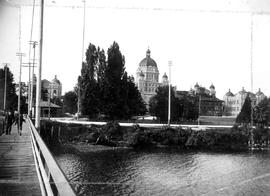 Parliament Buildings, Victoria, From Deck Of Third James Bay Bridge.