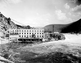 """Powerhouse, rear, W.K.P. & L. Co., Lower Bonnington, BC."""